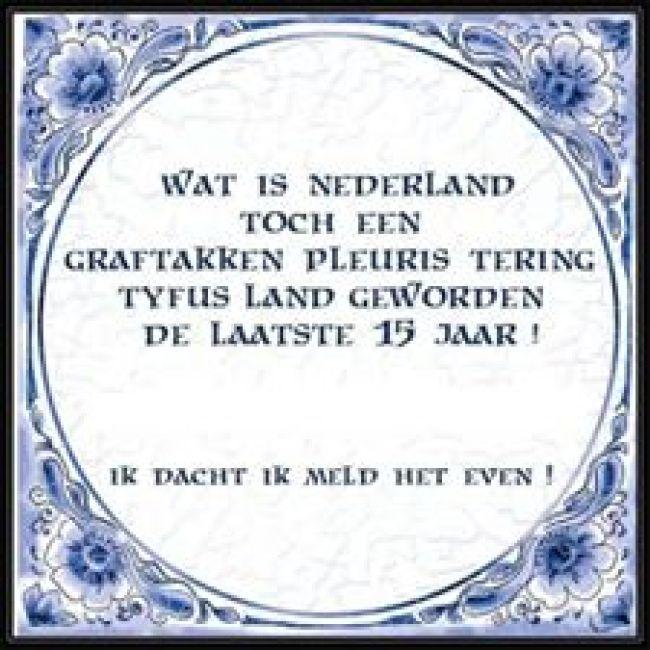 """'WAT IS NEDERLAND TOCH EEN GRAFTAKKEN PLEURIS TERING TYFUS LAND GEWORDEN"""" (foto Facebook)"""