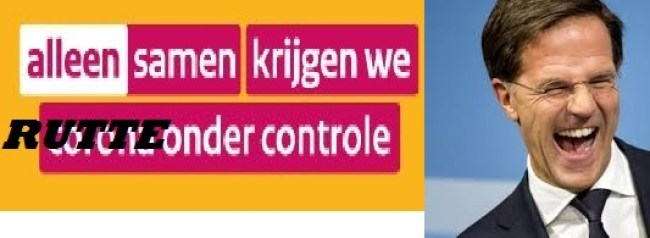 Alleen samen krijgen we Rutte onder controle (foto Twitter)