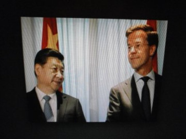 Chinese President Xi Jinping & Minister President Mark Rutte (foto Twitter)