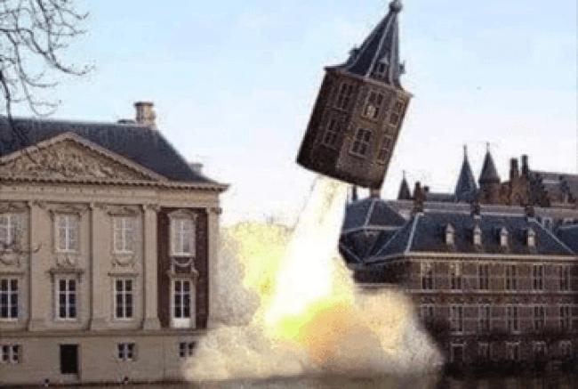 Het torentje wordt gelanceerd!