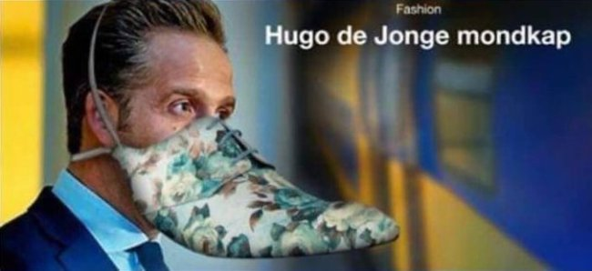 Hugo de Jonge Mondkap (foto Twitter)