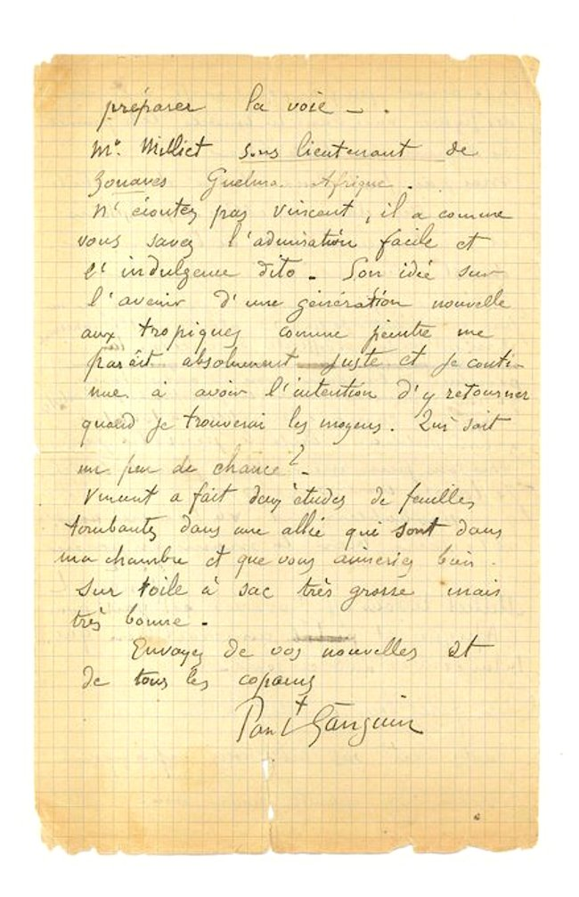 Lettter of Paul Gauguin & Vincent van Gogh aan Emile Bernard (1)