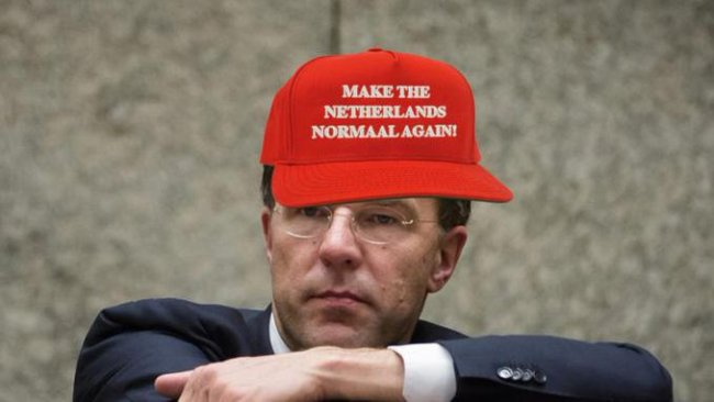 Make the Netherlands normaal again (foto Twitter)