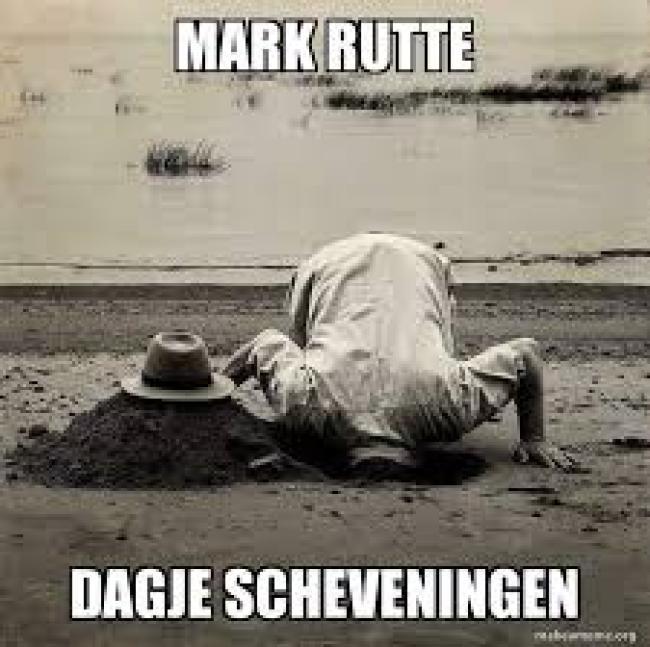 Mark Rutte Dagje Scheveningen (foto Make A Meme)