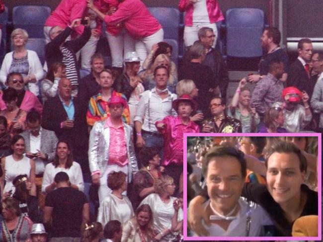 Mark Rutte bij de Toppers-(foto Het Haagse Complot)