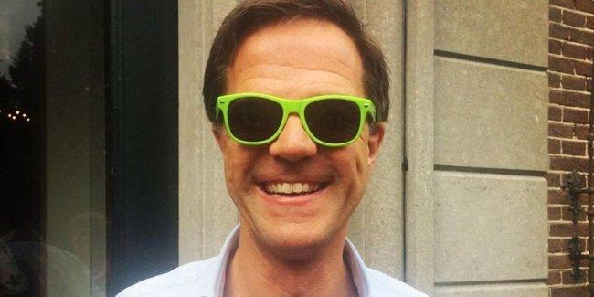Mark Rutte met groene bril (foto Sprout)