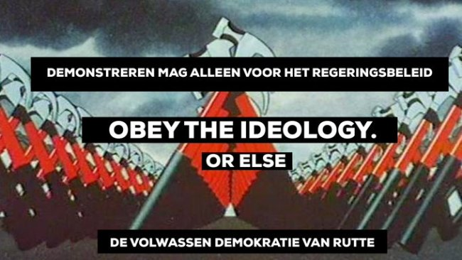 Obey the ideology (foto Twitter)