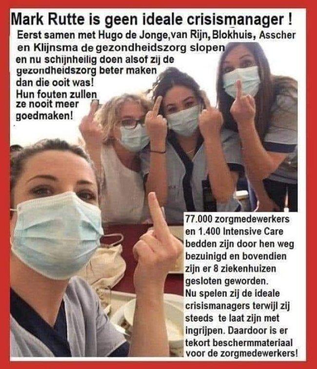 Rutte is geen crisismanager (foto Twitter)