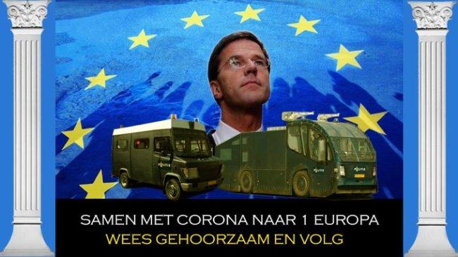 Samen met Corona naar één EUropa (foto Twitter)