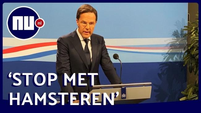 Stop met hamsteren! (foto Nu.nl)