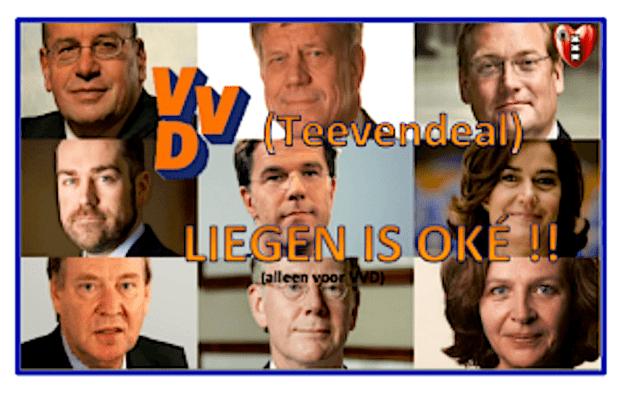 Teeven deal | Liegen is OK (foto Volksnieuws uit Amsterdam Noir)