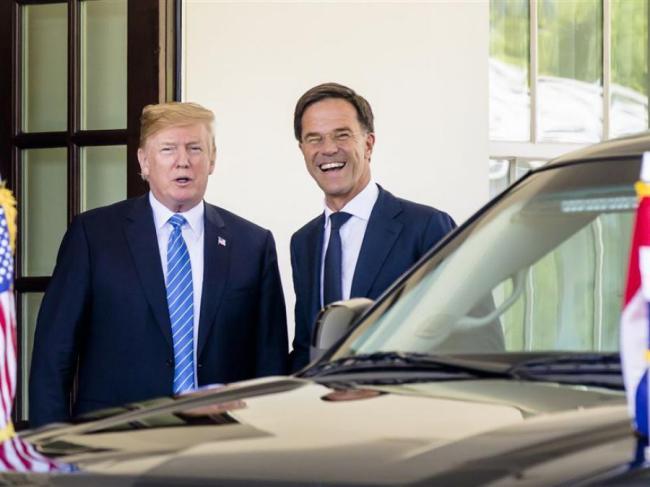 Trump & Rutte (foto NPO)