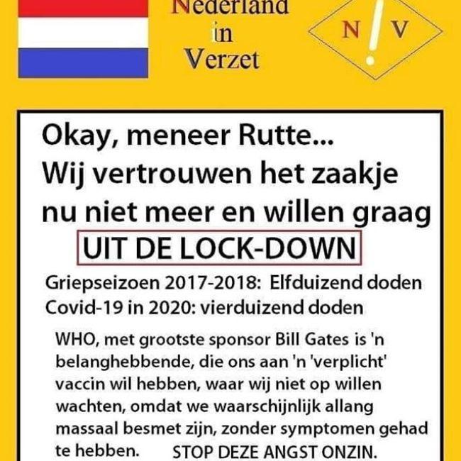 Uit de Lockdown (foto Nederland in Verzet)
