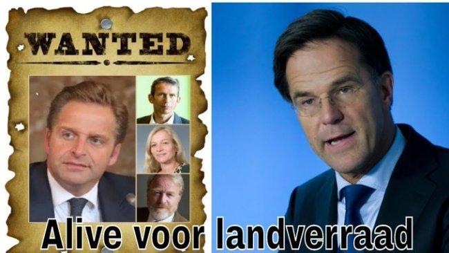 Wanted Alive voor landverraad (foto Twitter)