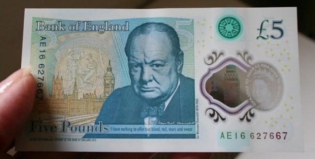 Winston Churchill Banknote (foto Twitter)