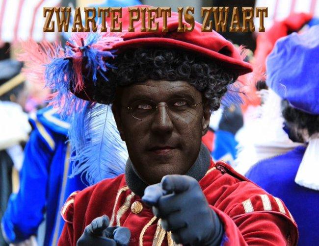 Zwarte Piet is zwart (foto Twitter)