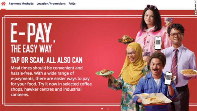 A government ad in Singapore featured an actor dressed as characters of different races (foto CNN)