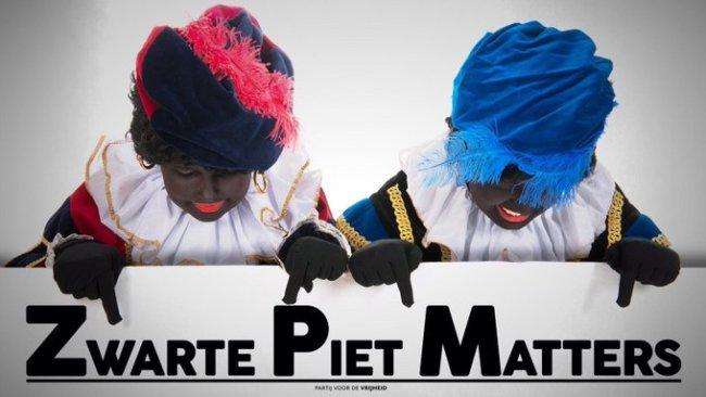 Zwarte Piet Matters (foto Twitters)
