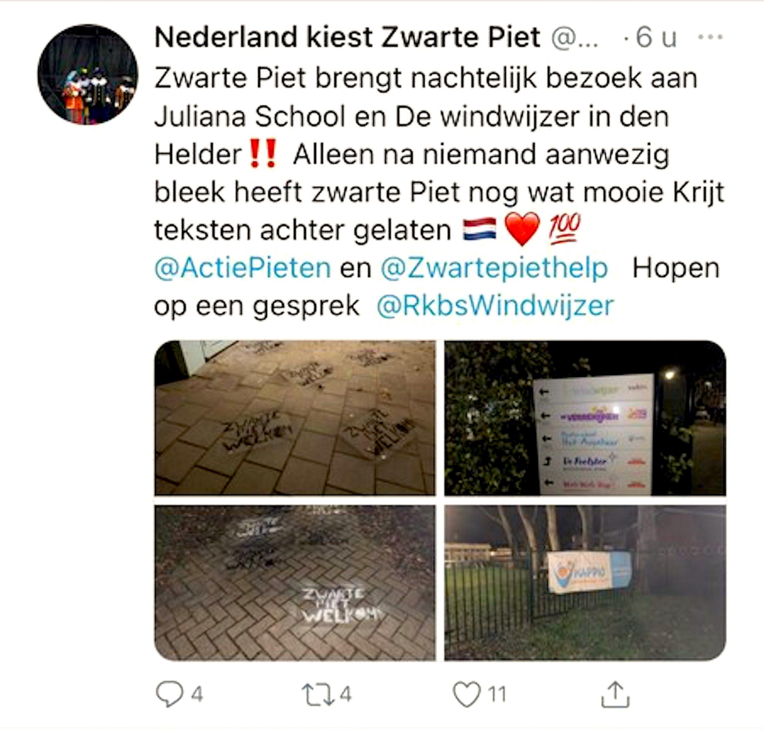 Nederland kiest Zwarte Piet (foto Twitter)