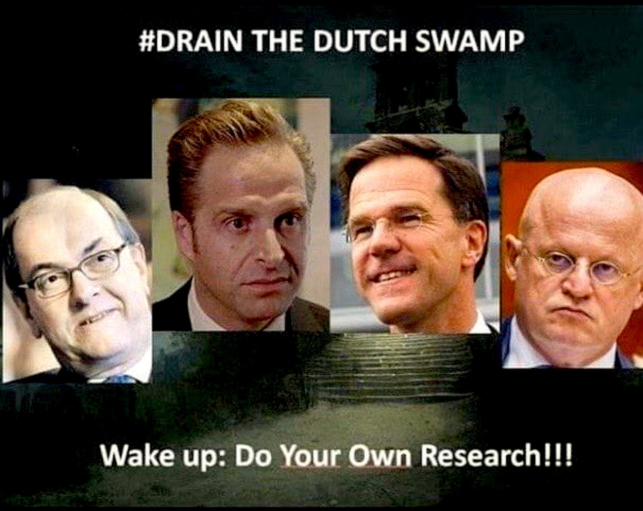 Drain The Dutch Swamp (foto Twitter)