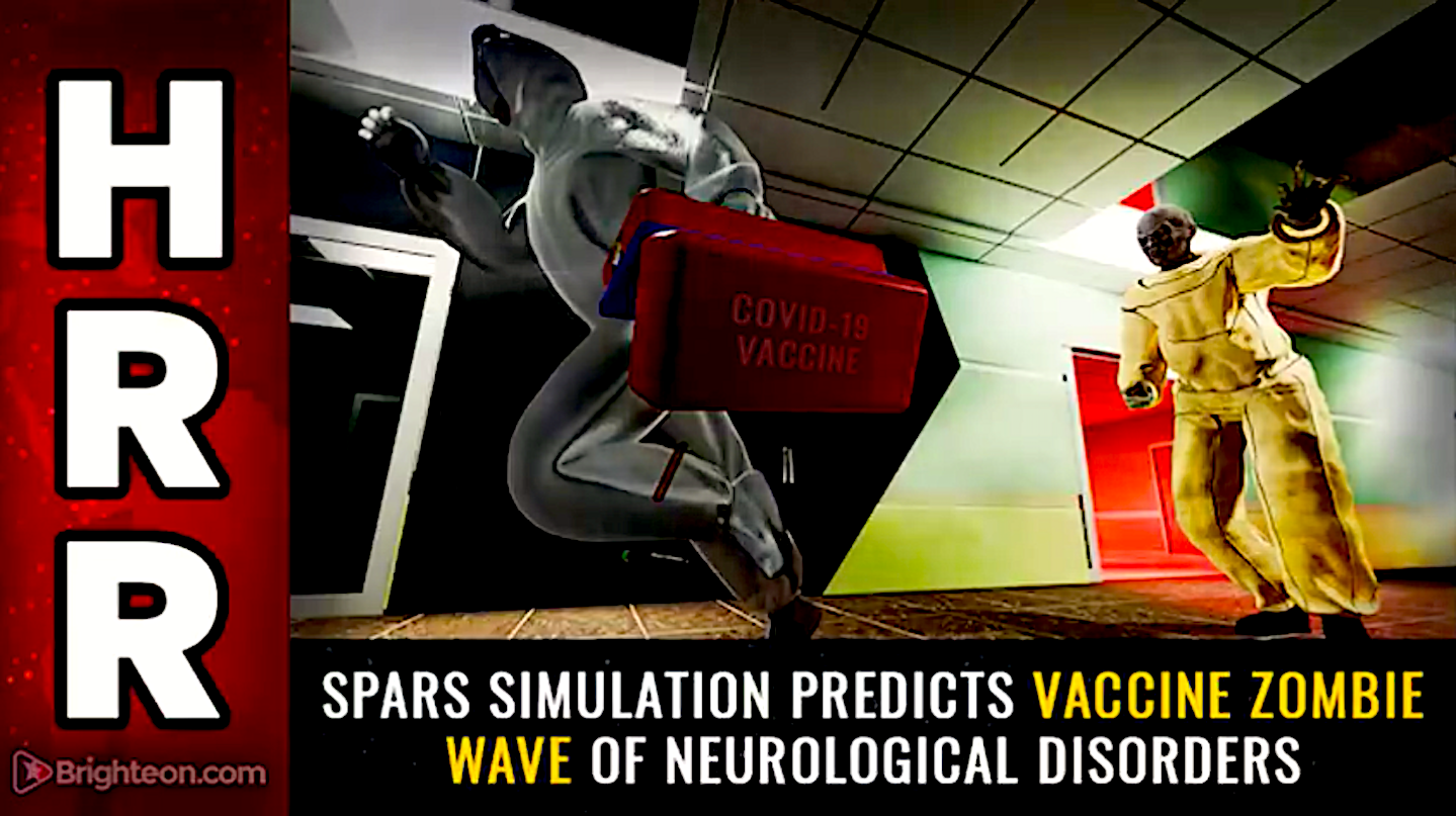 SPARS Simulation predicts Vaccine ZOMBIE Wave of Neurological Disorders (foto Bitchute)