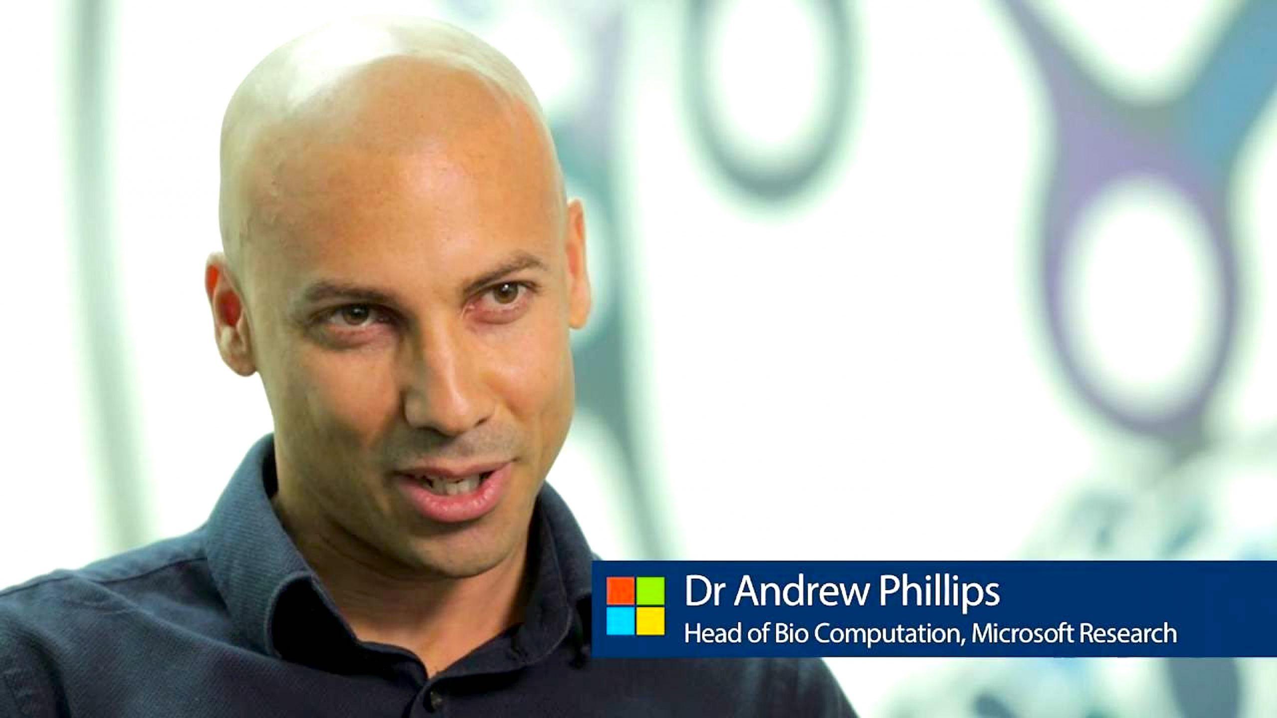 Dr Andrew Phillips Head of Bio Computatiion, Microsoft Research (foto Microsoft)
