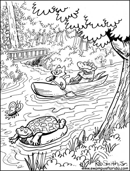 Swampy's Florida cartoon artwork by Rob Smith, Jr.