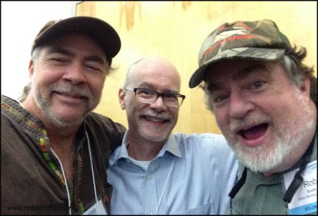 It's fellow artist Johnny Dame, graphic artist & fellow Florida history nut Rick Kilby and me.