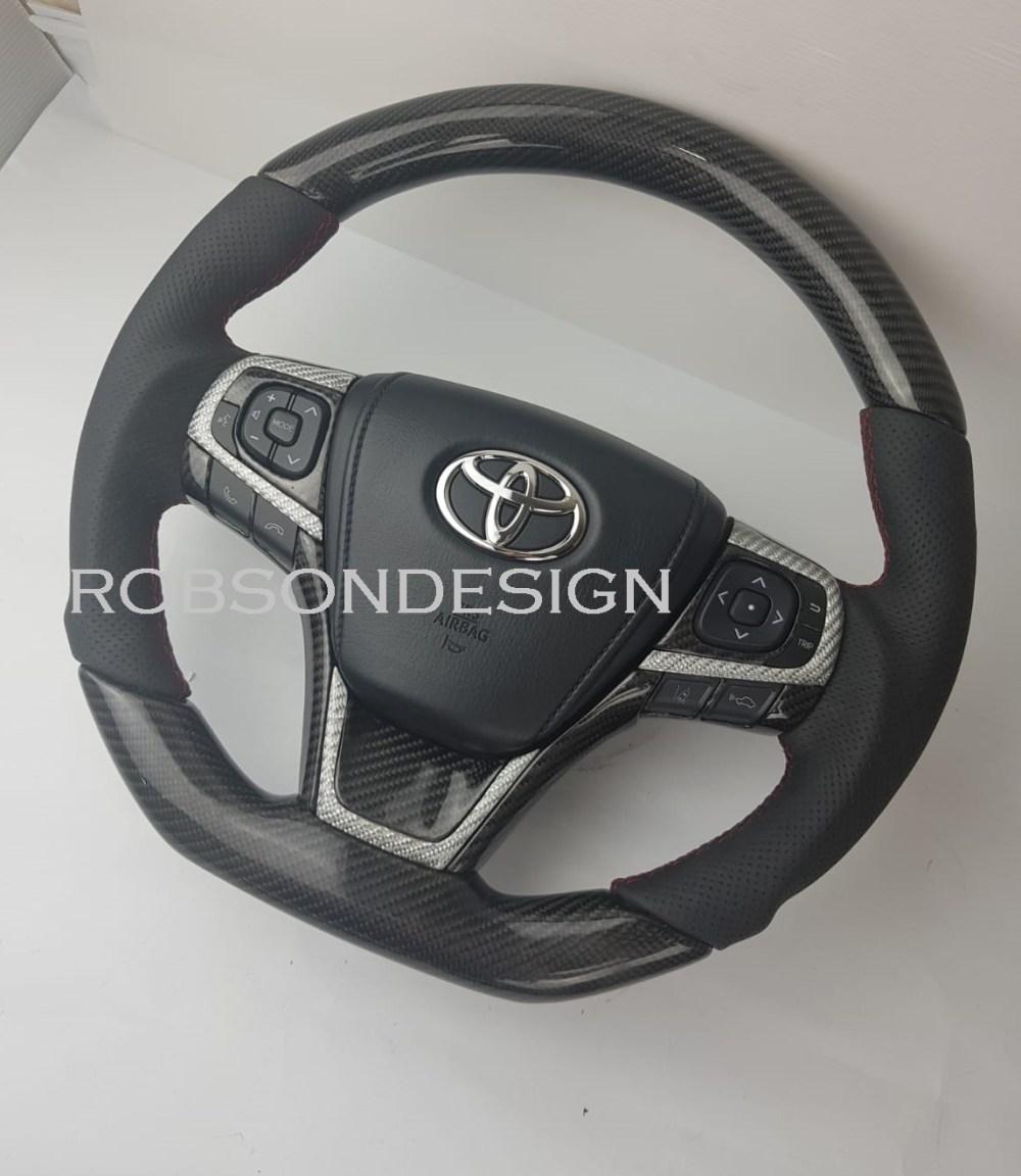 medium resolution of toyota camry harrier carbon fiber steering wheel 2015 2016 2017
