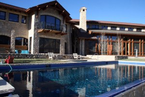 Swimming Pool Custom Swimming Pool Stone Coping Entry Steps Infinity Edge Automatic Pool Cover