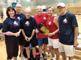 Attending the Texas Senior Games: Sherril Kerr, Patrick Claytor, Warren Williamson, Bob Romagosa, Irene Romagosa and Ford Roberson.
