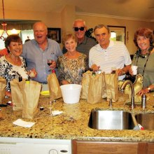 Left to right: Cherie Snowden, Frank Deardorff, Eileen Whittaker, Jim Fox, Charlie Snowden and Charlene Cottingham.