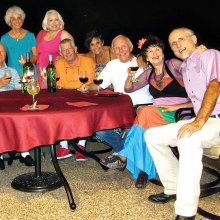 Left to right: Al Wright, Bernadette Fideli, Vivian Wright, Alfred Van Gool, Vickie Bone, Jere Bone, Nancy Toppan and Pete Toppan.