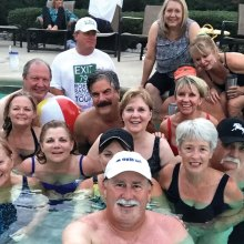 """The first Robson Ranch Baby Boomer pool """"selfie"""""""