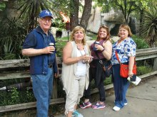 Wayne Reese, Susan Parker, Rebecca Reese and Lucy Reese enjoying the zoo