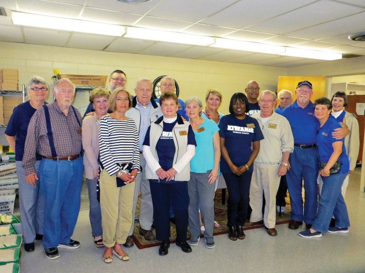 Kiwanians visit the Denton State Supported Living Center.