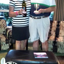 John and Jane Thompson brought the winning wine.