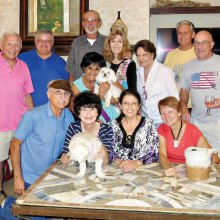 Front row: Angel Bone; second row: Nancy Toppan, Kathy Heberlein and Melodye Rogers; third row: Pete Toppan, Vickie and Nizhoni Bone, Joyce Frey, Millie and Mike Aramanda; fourth row: Jere Bone, Ed Heberlein, Bill Frey and Bobby Rogers