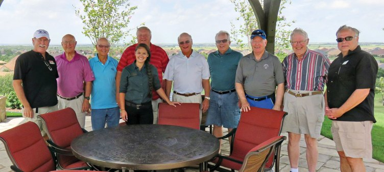 The Sigma Chi group at their August meeting