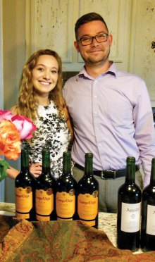Left to right: Danielle George, Wine Supervisor Total Wine in Denton, and Justin Darnell, Assistant