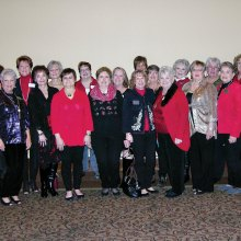 The 2017 Robson Ranch Women's Club Executive Board and Committee Chairs, left to right, front row: Darla Mahan, past president; Peggy Crandell, special projects; Peggy Backes, secretary; BJ Watson, welcome; Laurie Wiginton, ways and means Co-Chair; Bert Zeitlin, website; Jan Utzman, community relations; Sharon Foy, 2017 president; Ruby Wilson, Hospitality; Joyce Ambre, vice president, Membership; Joan Krause, Luncheon Coordinator; back row: Joyce Frey, Programs; Judy Ondina, Service; Mary Ann Carroll, sunshine; Consie Javor, parliamentarian; Gayle Coe, publicity; Bobbi Hardt, ways and means co-chair; Carol Cooley, treasurer; Connie Wells, programs assistant; Mary Ornberg, 2018 president elect. Vicki Baker, historian, is not shown.