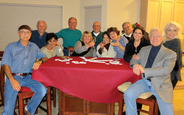 Sitting: Pete Toppan, Vickie Bone, Kathy Zumann, Millie Aramanda, Nancy Toppan, Kathy Heberlein and Al Wright; standing: Jere Bone, Tom Zumann, Mike Aramanda, Ed Heberlein and Viv Wright