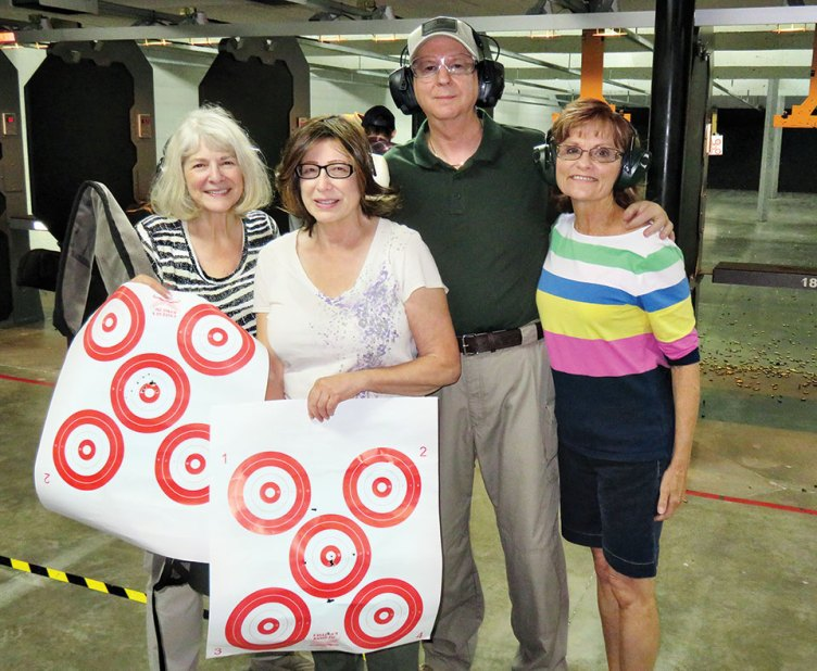 The Women's Group of the Gun Club on women's day at the shooting range