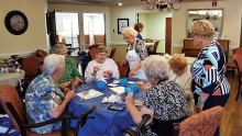 The Kiln Krafters visited The Vintage Residential Home in Denton.