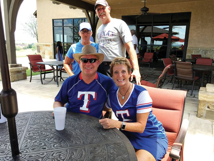 Winners Sarah Ray, Mike Miloser and Mike and Linda Scott