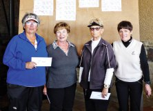 Fourth Flight winners from left to right: Jeanie Martinez, Linda Farmer, Judy Cromer, Linda Watrak