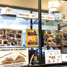 The FOL's activities are highlighted for the membership campaign in the Spotlight Window in the CATC.