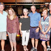 New Boomers (left to right): Marty and Lorie Shaddix, Pam and Steve Courtney, Dale McMichael and Tim James.