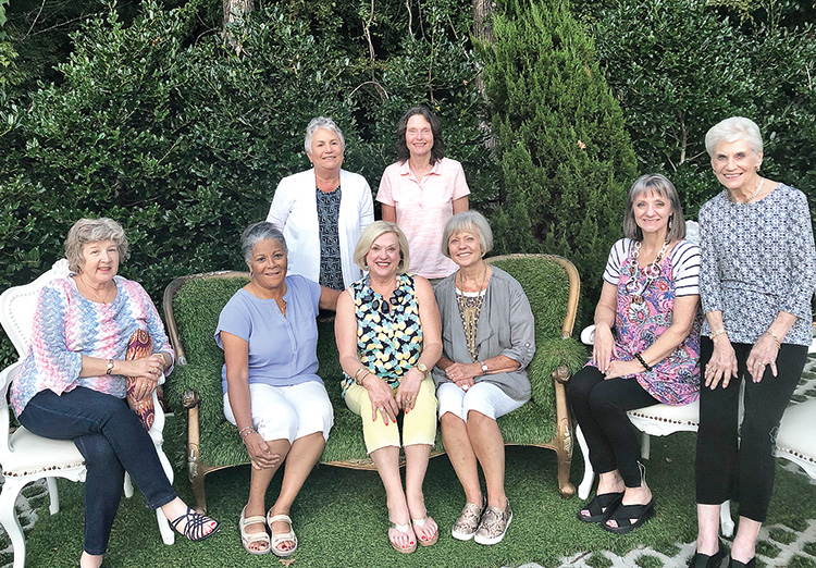 Pictured (left to right): Beth DiTommaso, Maitland Dade, Margaret Erwin (standing), Lynda Garrett, Kim Satterfield (standing), Consie Javor, Lori Slocum, and Marilyn Vallario.