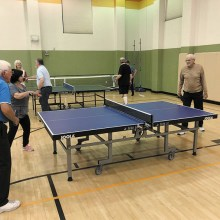 Robson Ranch Table Tennis Club's members enjoy playing in 72°F.